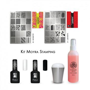 Kit Stamping Nail Art Moyra
