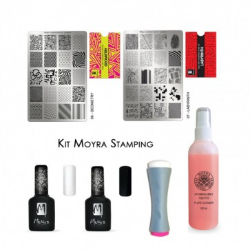 Kit Stamping Nail Art Moyra