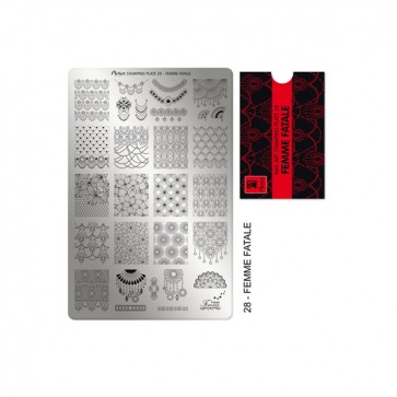 Stamping Plate N° 28 Moyra