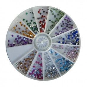 Ruota brillantini tondi 2mm per Nail Art