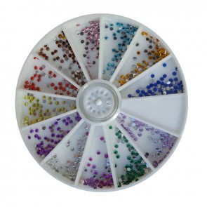 Ruota brillantini tondi 1mm per Nail Art